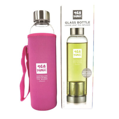 Tea Tonic Glass Tea Bottle with Tea Inf. Thermal Slv Pink 500ml