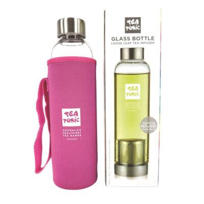 Tea Tonic Glass Tea Bottle with Tea Inf. Thermal Slv Pink 500ml